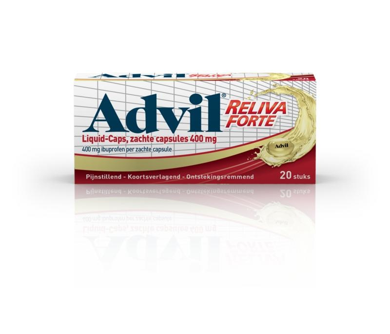 Advil reliva liquid capsule 400mg UAD - 20 capsules