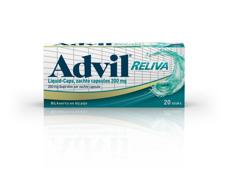 Advil reliva liquid capsule 200mg UAD - 20 capsules