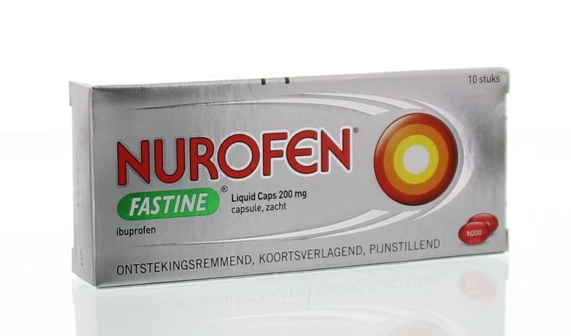 Nurofen Fastine liquid capsules 200 mg - 10 stuks