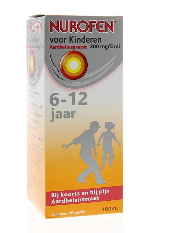 Nurofen 4% Kind aardbei suspensie - 100 ml