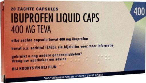 Teva Ibuprofen 400 mg liquid - 20 capsules