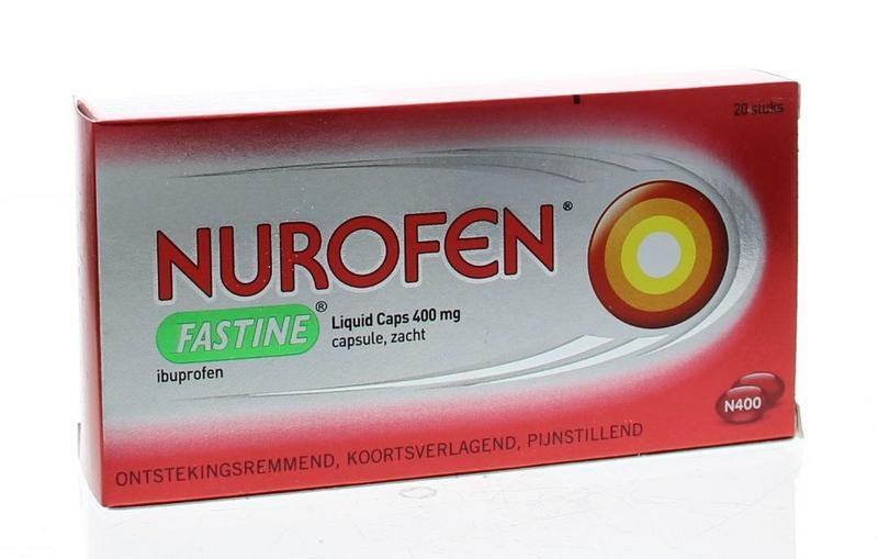 Nurofen Fastine liquid capsule 400 mg ibuprofen - 20 capsules