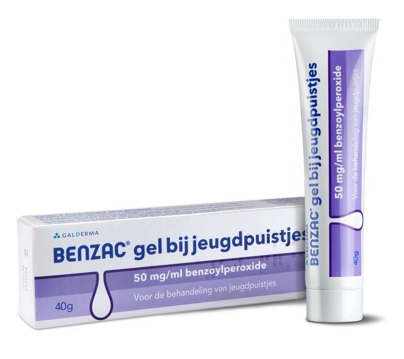 Benzac gel bij jeugdpuistjes - 40 gram