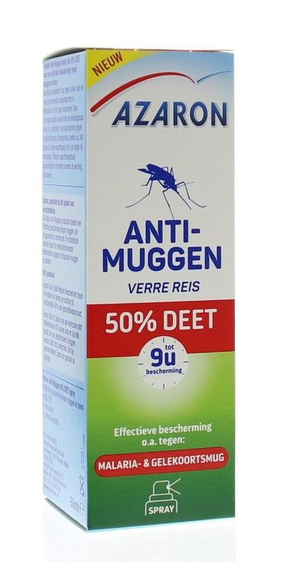 Azaron Anti muggen 50% deet spray - 50 ml