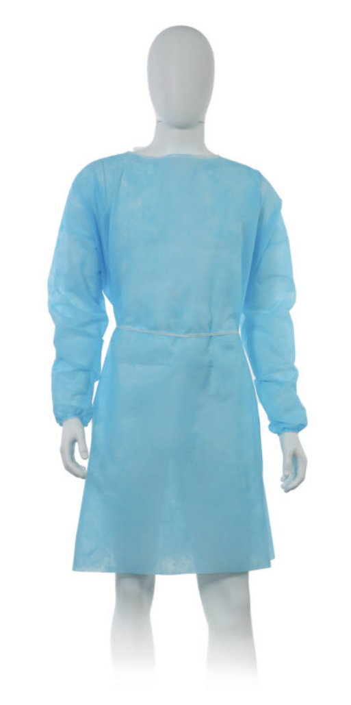 Disposable polypropylene apron - blue 20 pieces