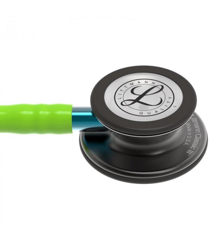 Littmann® Classic III Stethoscope - limoen - smoke - blauw