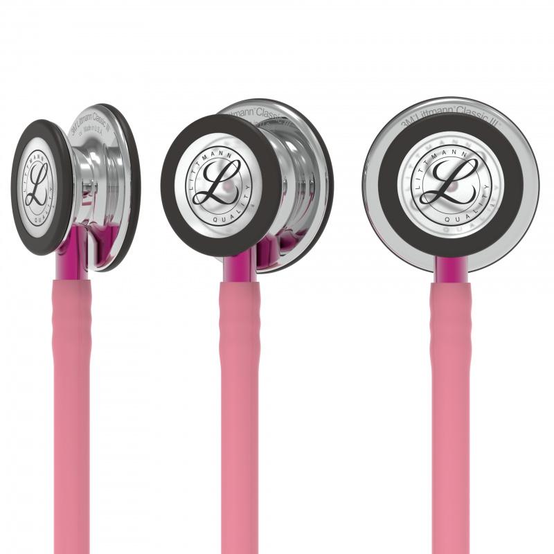 Littmann® Classic III Stethoscope - pearl pink - mirror - pink