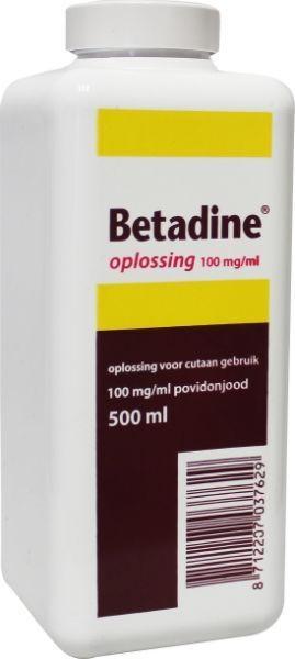 Betadine Jodium oplossing 100 mg/ml 500 ml