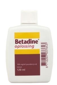Betadine Jodium oplossing 100 mg/ml 120 ml