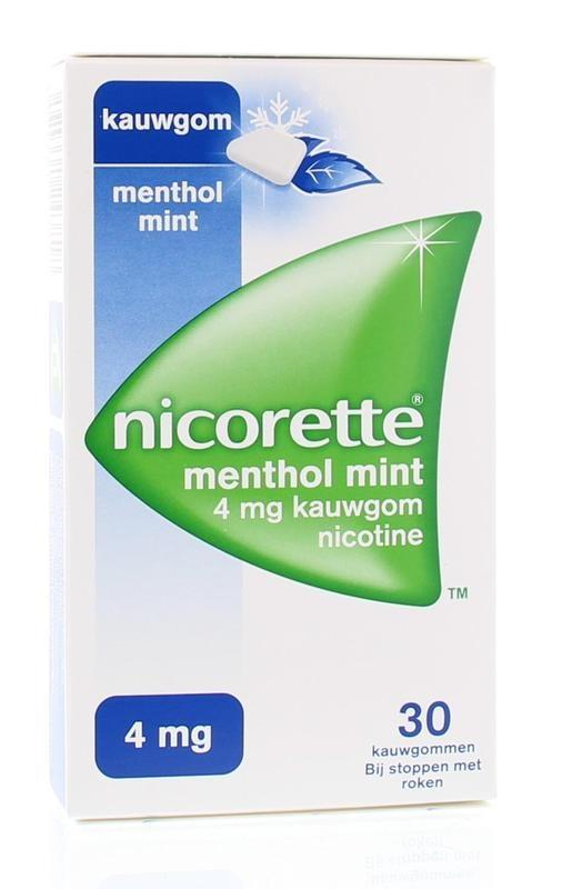Nicorette Kauwgom 4 mg menthol mint