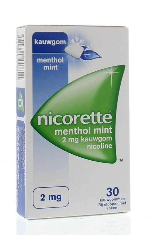 Nicorette Kauwgom 2 mg menthol mint 30 stuks