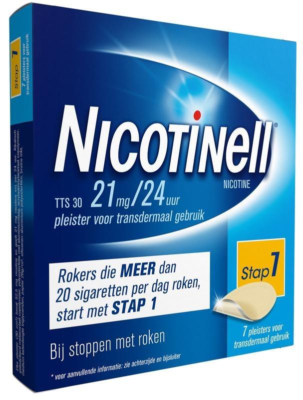 Nicotinell TTS30 21 mg pleisters 7 stuks