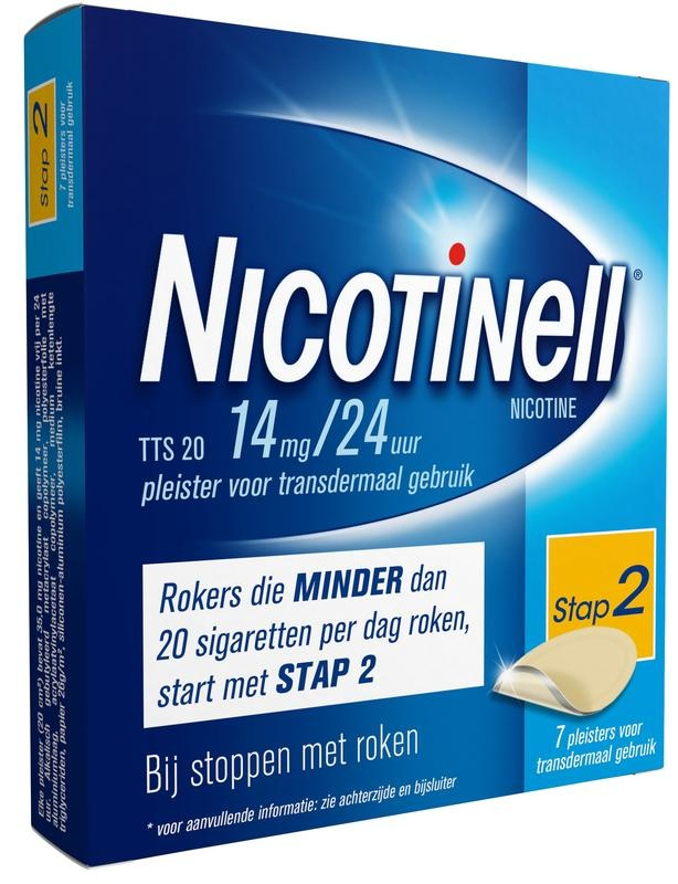 Nicotinell TTS20 14 mg pleisters 7 stuks