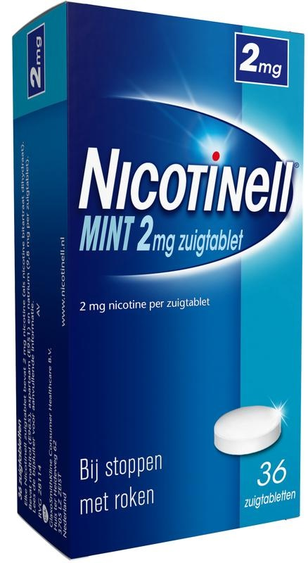 Nicotinell Mint 2 mg 36 zuigtabletten