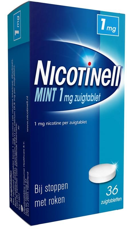 Nicotinell Mint 1 mg 36 zuigtabletten