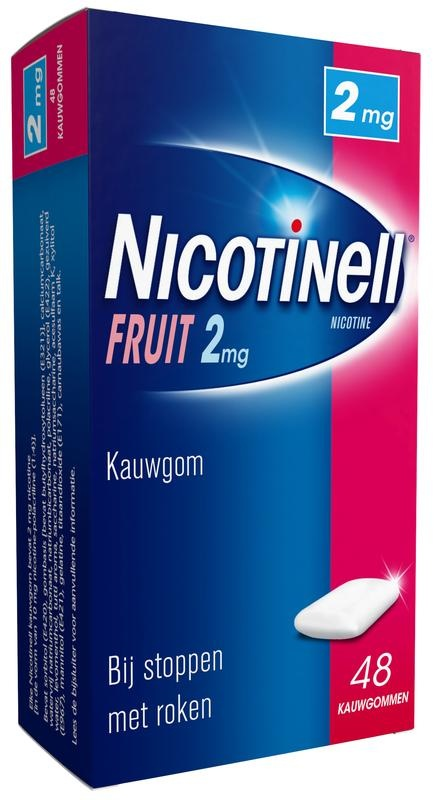 Nicotinell Chewing gum fruit 2 mg 48 pcs