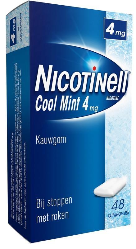 Nicotinell Kauwgom cool mint 4 mg 48 stuks