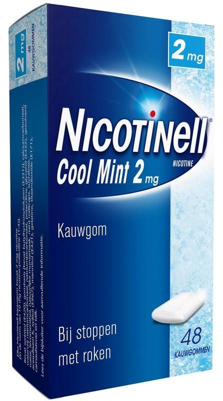 Nicotinell Kauwgom cool mint 2 mg 48 stuks