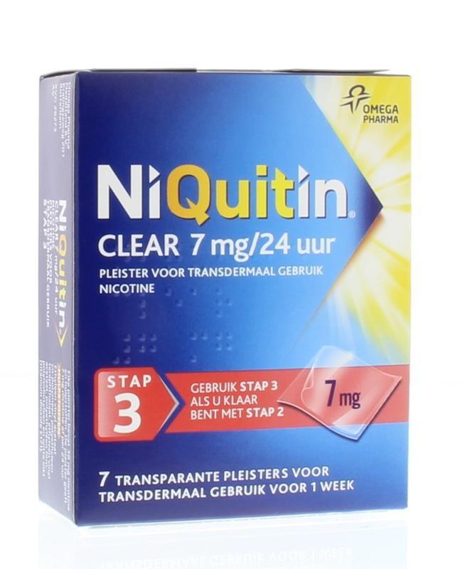 Niquitin Stap 3 7 mg pleisters 7 stuks