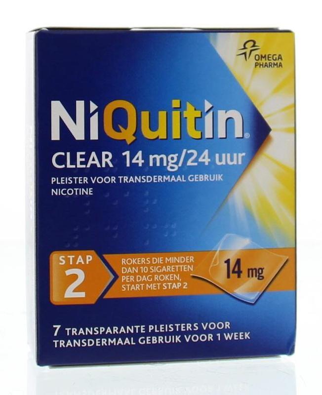 Niquitin Stap 2 14 mg pleisters 7 stuks
