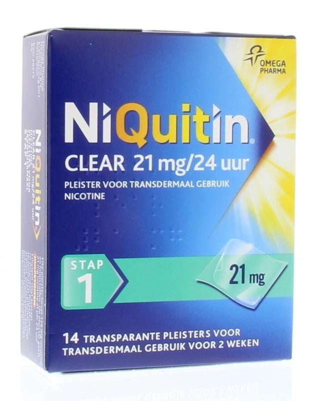 Niquitin Stap 1 21 mg pleisters 14 stuks