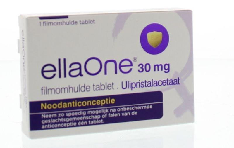 Ellaone 30 mg filmonhulde tablet 1 stuks Morning after pil