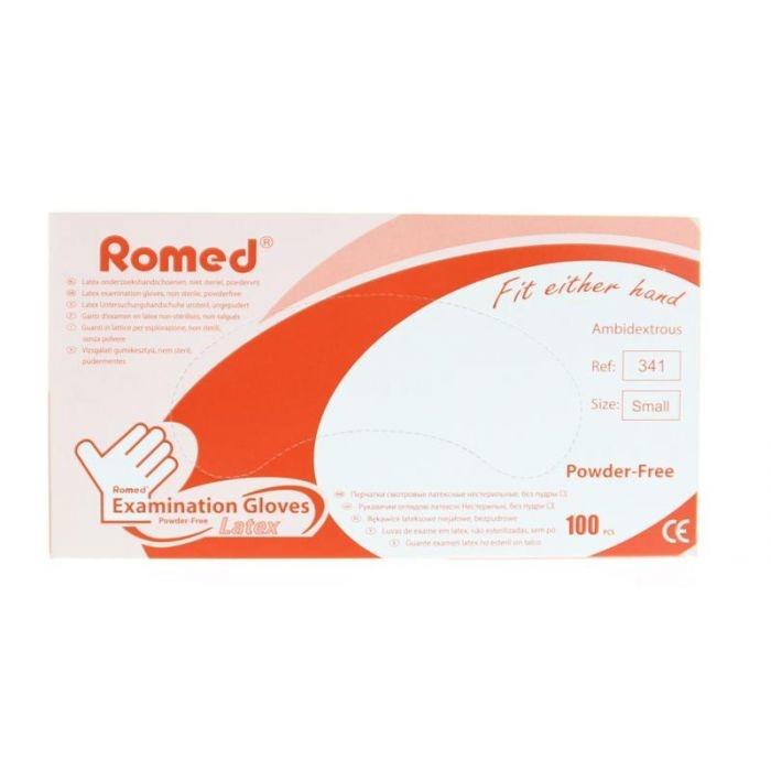 Romed handschoenen latex maat small - 100 stuks