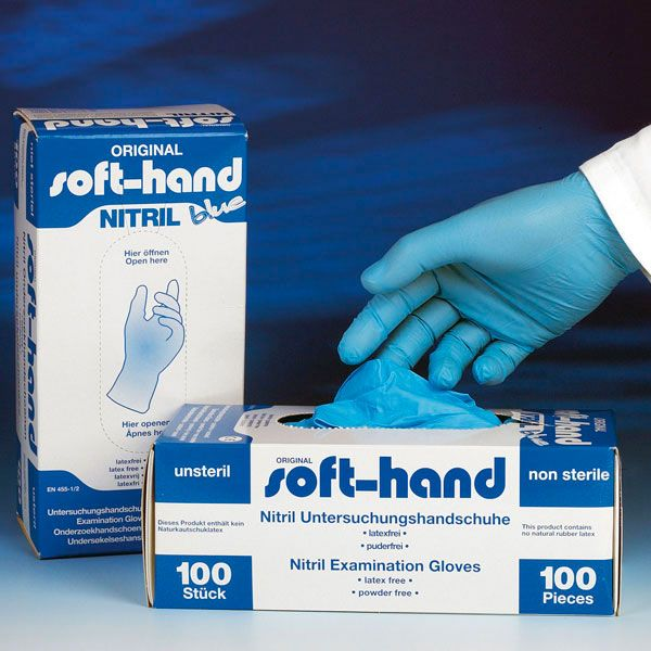 Soft-Hand Nitril Handschoenen Blue - 100 Stuks - Medium