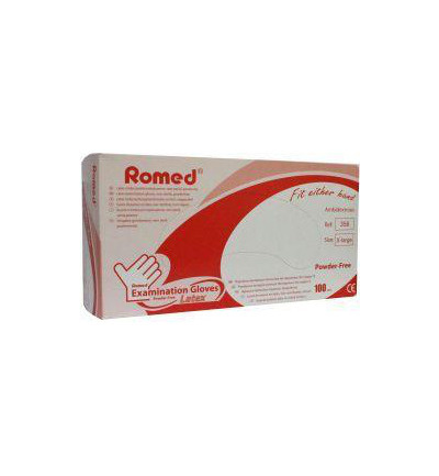 Romed Latex Untersuchungshandschuh - 100 Stück - large