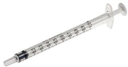 Spuit BD Plastipak 1ml 3-delig centrisch 100 stuks