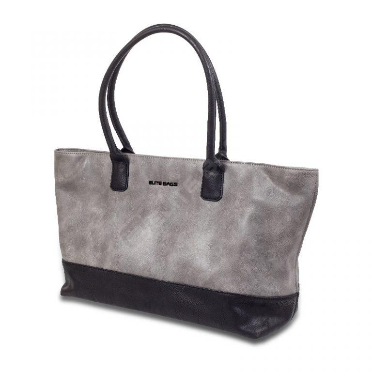 Elite Bags Doctor's Bag - TOTE - Grey/Black - Outlet