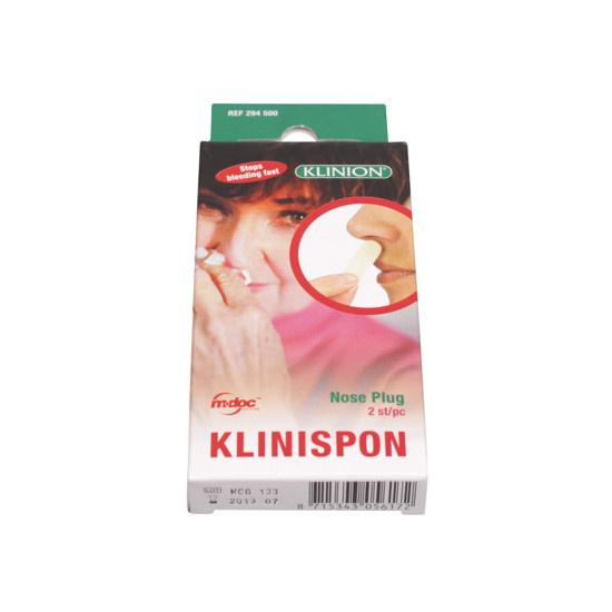 Klinion klinispon nose plug absorberend neusverband 2 STUKS