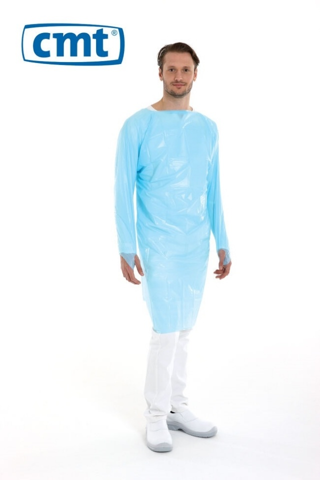 Apron CMT cpe long sleeves 120 x 98 cm with thumb hole