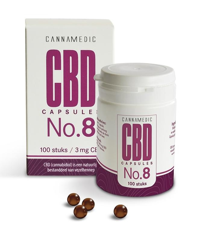 Cannamedic CBD Capsules no 8 3 mg 50 capsules