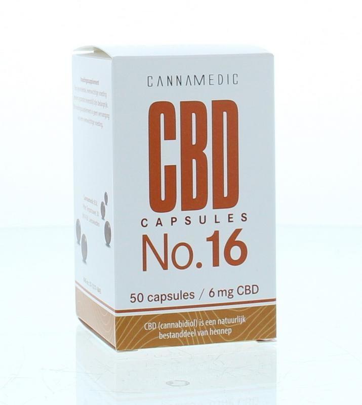 Cannamedic CBD Capsules no 16 6 mg 50 capsules