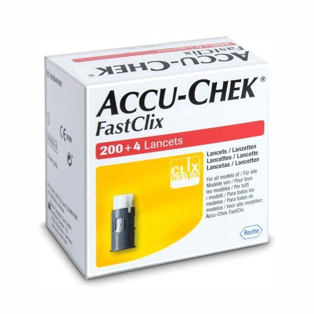 Roche Accu-Chek FastClix lancets (204)