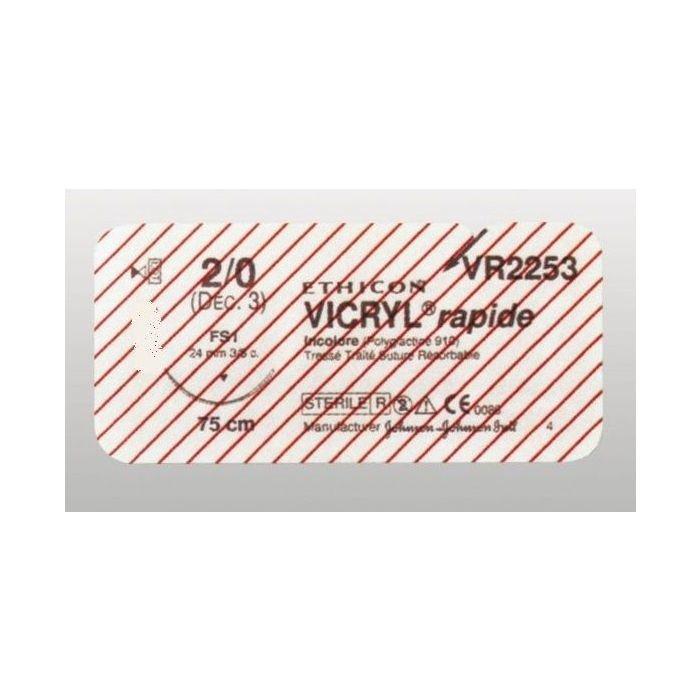 Vicryl Rapide usp 2-0 70cm FS-1 ongekleurd VR2253 36x1