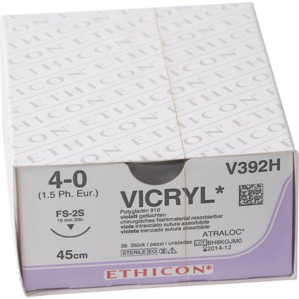 Vicryl usp 4-0 45cm FS-2S violet V392H 36x1