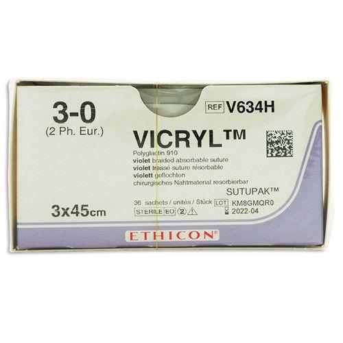 Vicryl usp 3-0 3x45cm violet V634H 36x1
