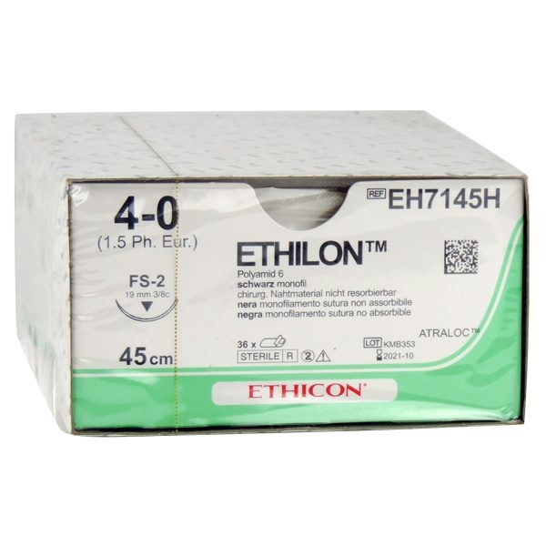 Ethilon II usp 4-0 45cm FS-2 zwart EH7145H 36x1