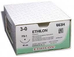 Ethilon II usp 3-0 45cm FS-1 black 663H 36x1