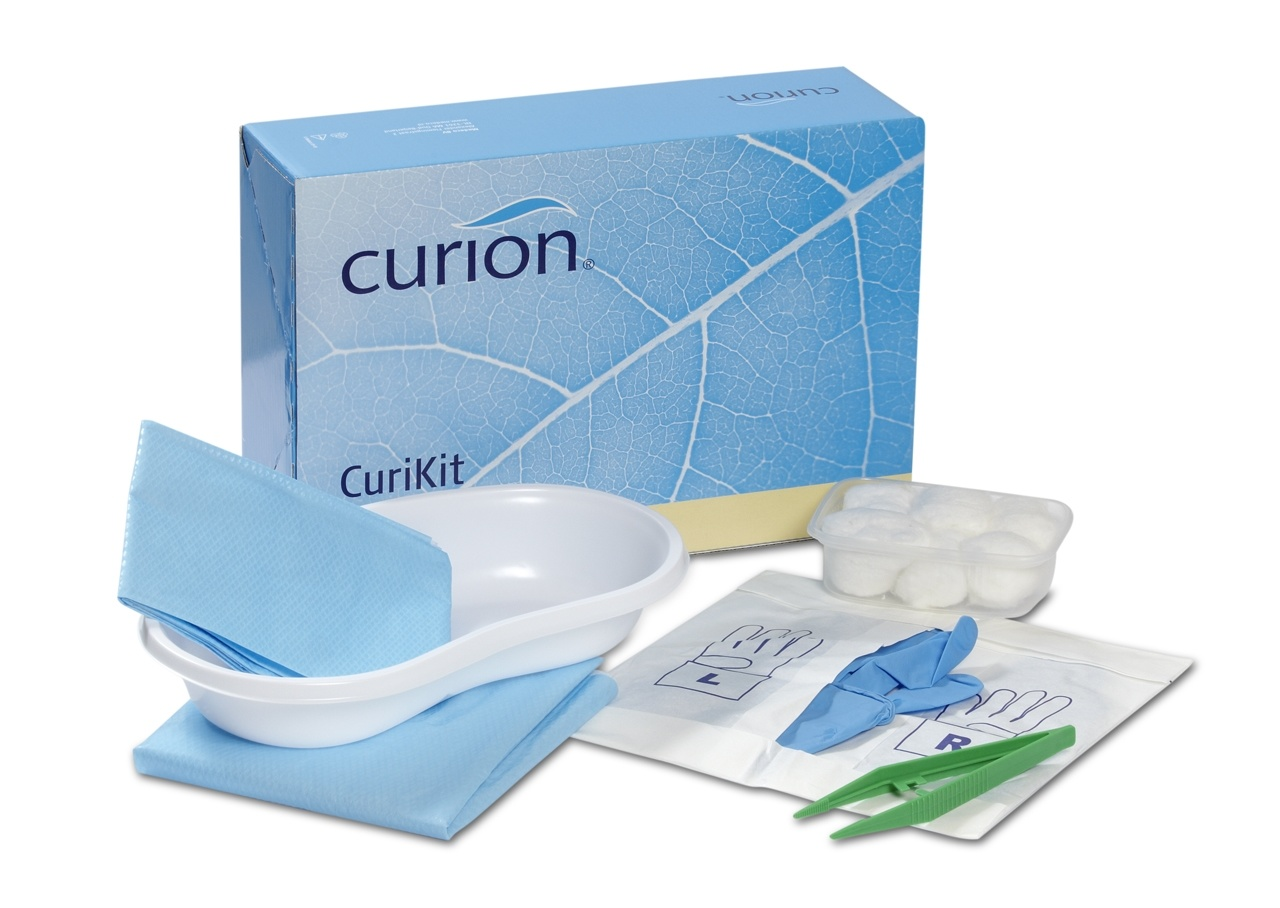 Curion curikit bladder catheterization set extended collection catheter