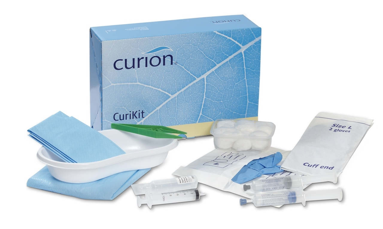 Curion curikit bladder catheterization set extended indwelling catheter including endosgel