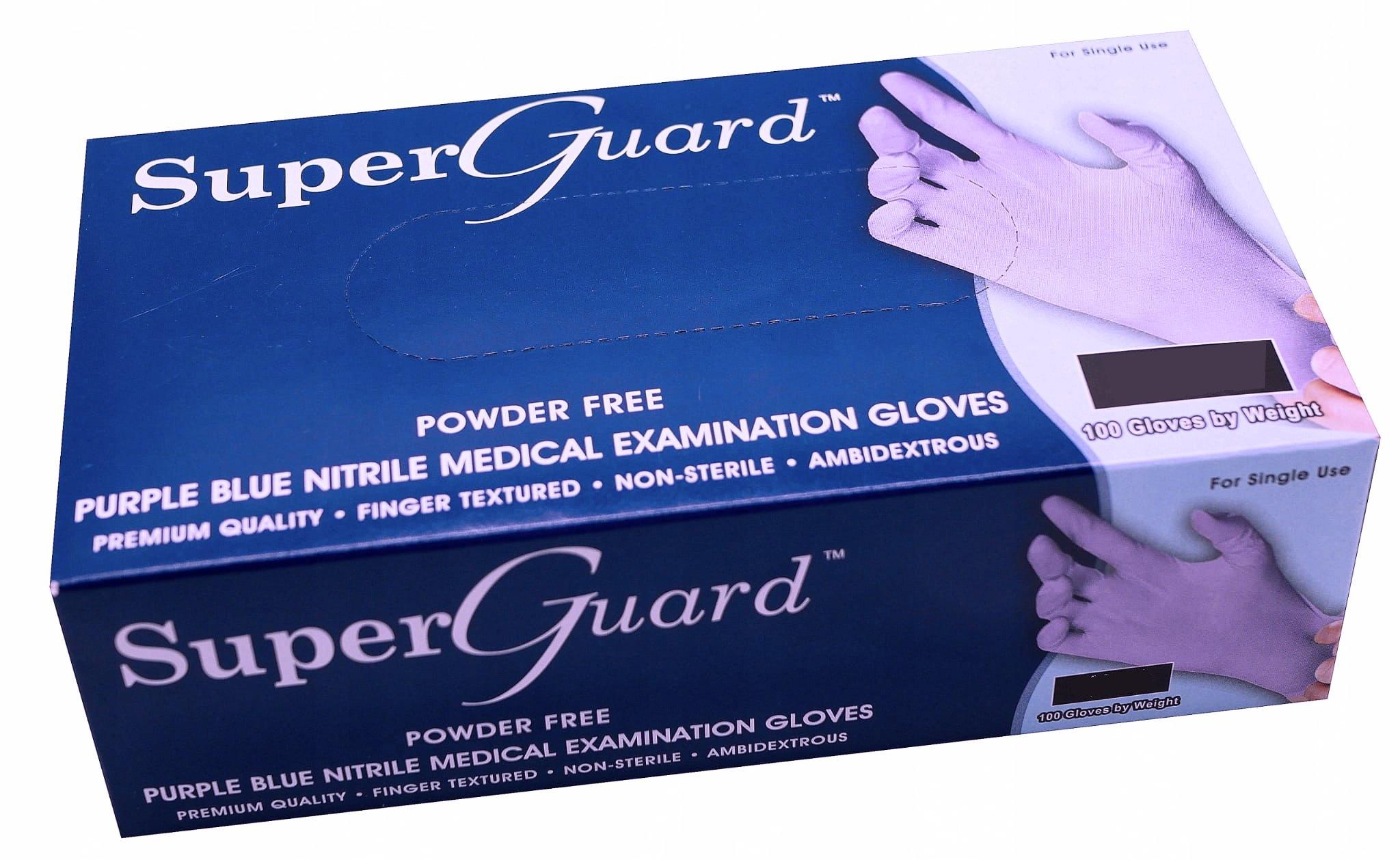 Super Guard - Nitrile gloves - Purple/blue - 100 pieces - Large