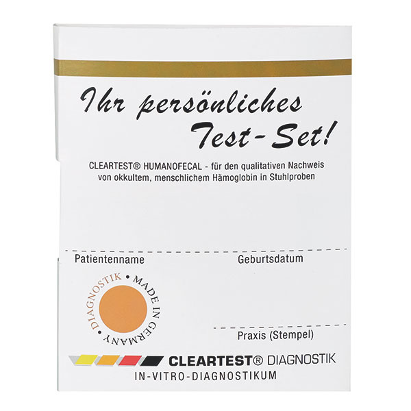 Cleartest Colon cancer test iFOBT Humanofaecal