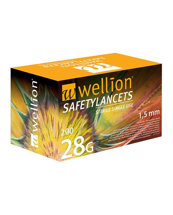 WELLION VEILIGHEIDSLANCET 28G - 200 pieces