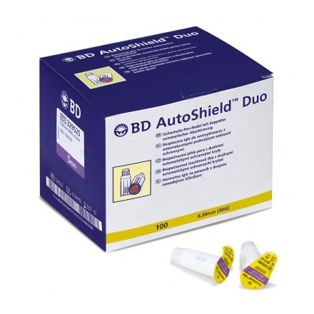 BD AutoShield Duo 30G 5 x 0,3 mm - 100 stuks