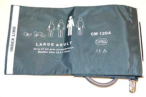ABPM blood pressure cuff - large - adult - 33-47 cm