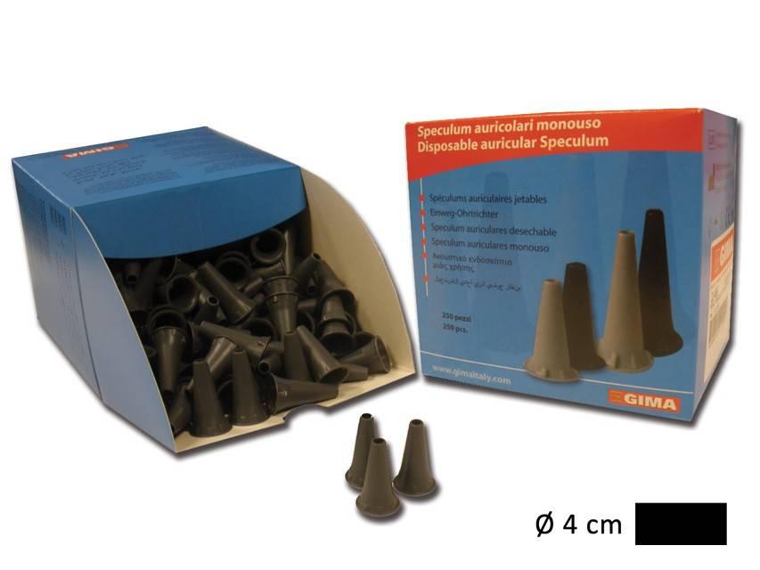 Ohrtrichter Schwarz, 4 mm Erwachsene