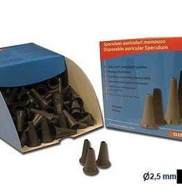 Medische Vakhandel Ear tips - black - 2.5mm - child